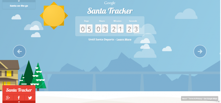 google santa tracker 730x343 After NORAD jumps on the Windows 8 sleigh with Microsoft, Google launches its own Santa Tracker