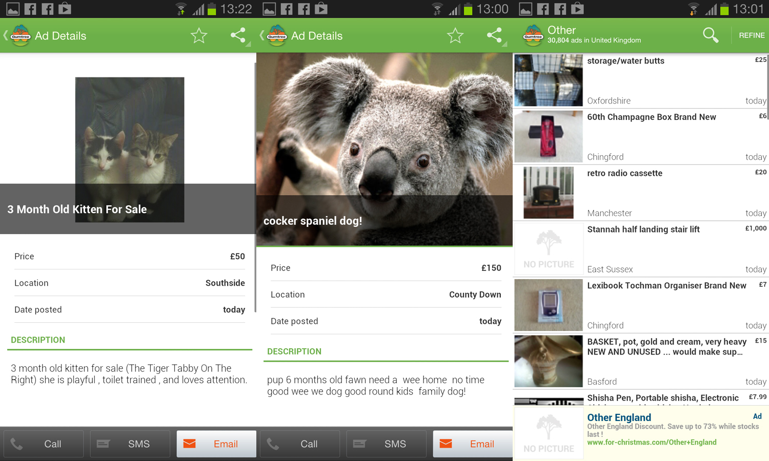 gumtree for android copy Classified ad site Gumtree releases Android app for UK users and ad posting feature for iOS