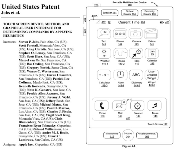 "jobs iphone patent and figure Apple's ""Steve Jobs"" iPhone patent preliminarily ruled invalid, may affect Samsung lawsuit, others"