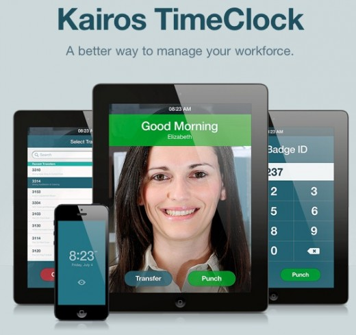 kairos timeclock 520x489 Facial recognition startup Kairos chooses Miami as its global launching point