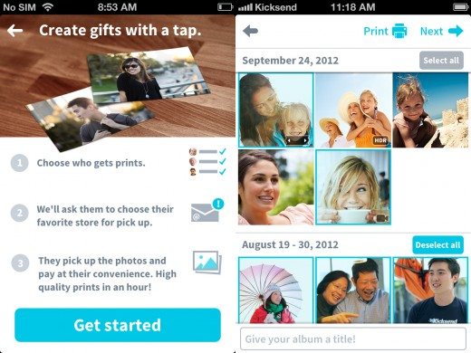 kicksend app screenshots 02 520x390 Kicksend now allows unlimited photo sharing, CVS and Target join Walgreens as printing partners