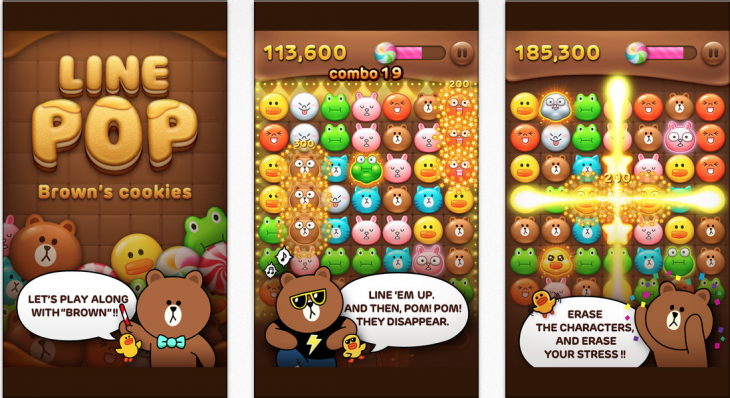 linepop 730x398 A week after it hit 100m users, Lines top two social games reach 30m cumulative downloads