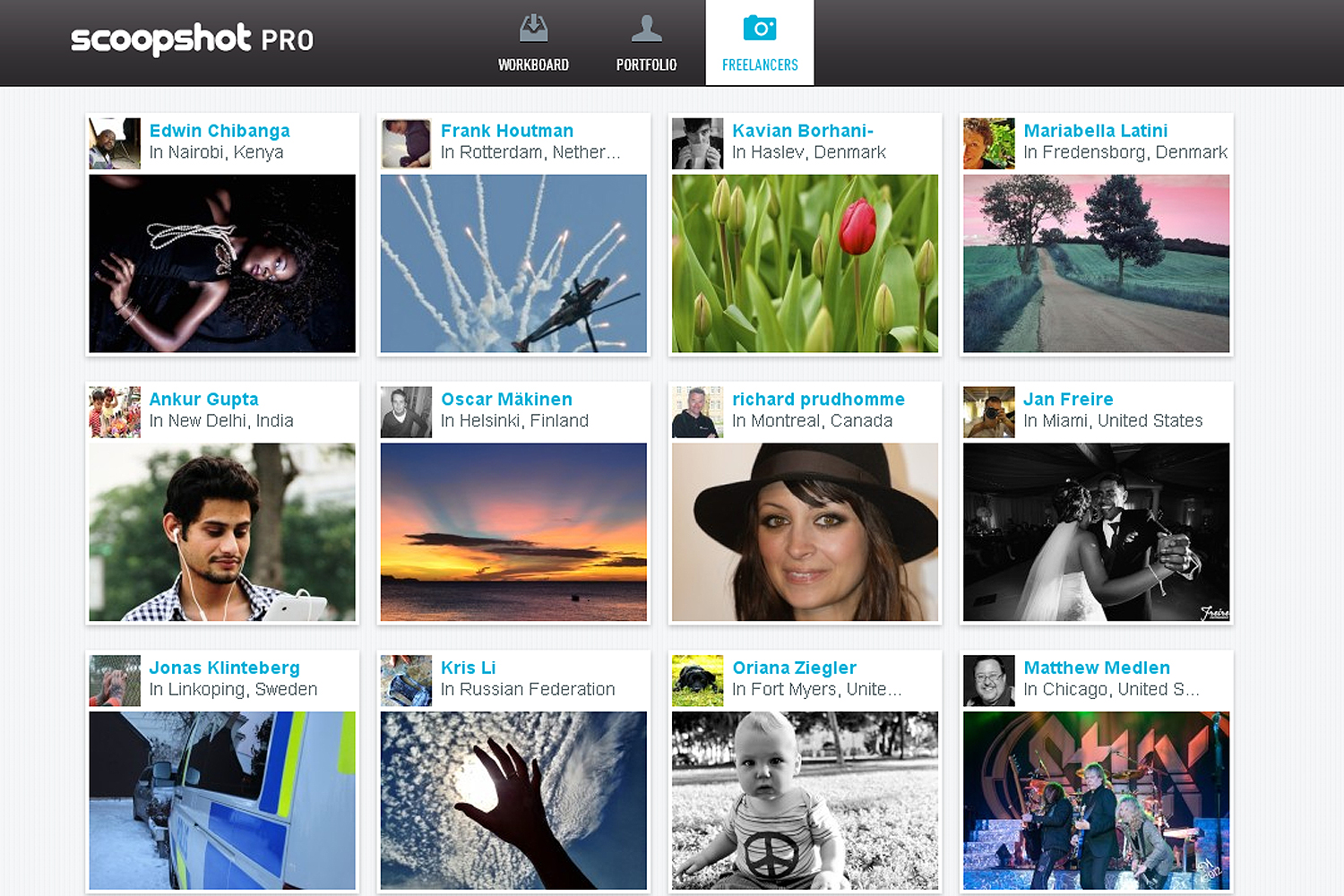 scoopshot screen Scoopshot launches Pro service for commissioning photographers and showing portfolios