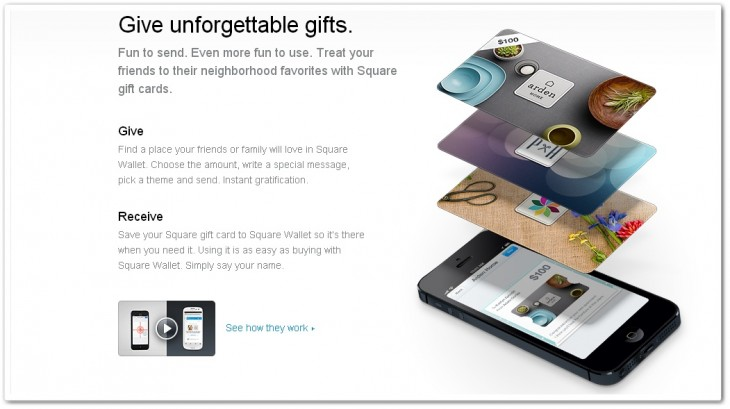 square gc 730x409 Square integrates Apples Passbook and introduces gift cards for iOS app users