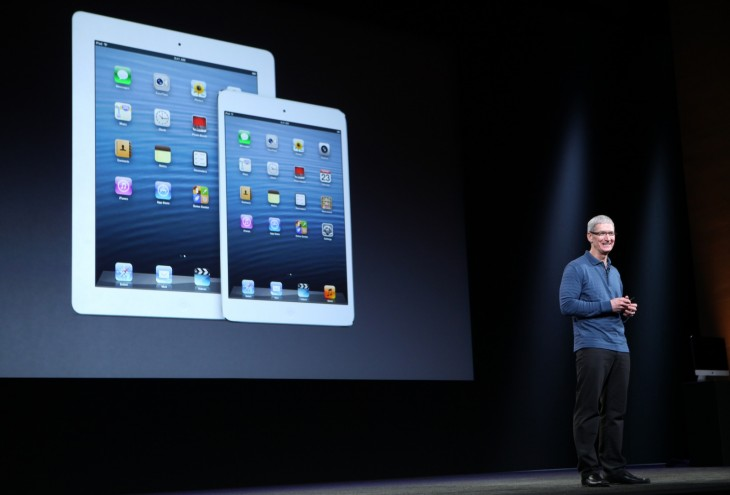 tim cook at apple ipad mini keynote via getty images 730x495 2012s biggest tech news in pictures