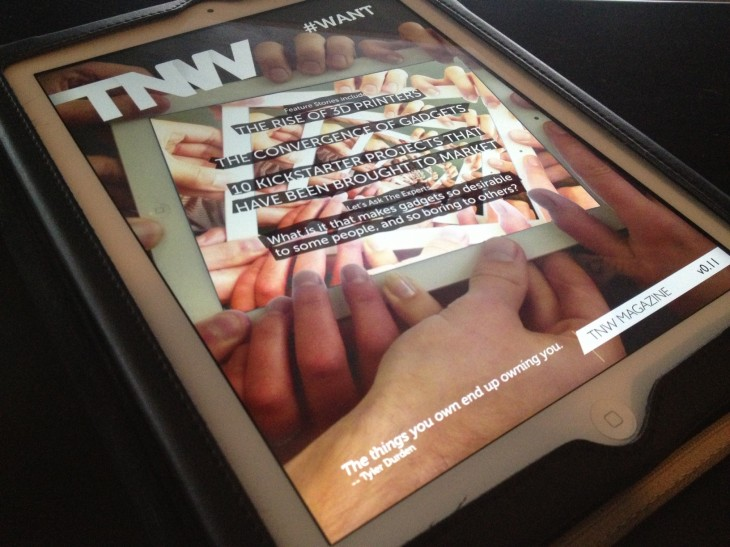 tnw magazine on ipad 730x547 From Internet freedom to TNW Conference: A year at The Next Web