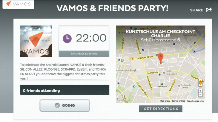 vamos party 730x408 Event discovery startup Vamos launches Android app, highlights visuals