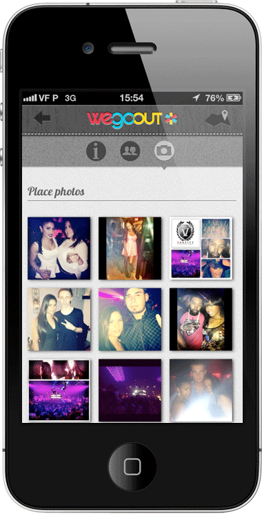 wegoout screenshots mobile event photos Event discovery startup WeGoOut updates its iOS app and site to help you interact at parties