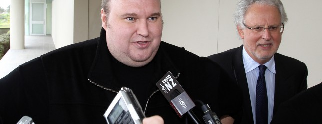 Megaupload boss Kim Dotcom leaves court