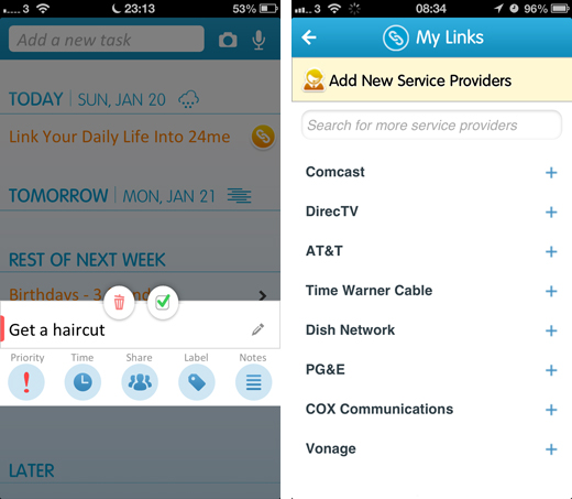 24mescreens3 24me is a robust iOS app for tracking daily chores, bill payments and birthdays