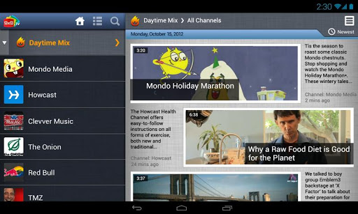 9x9landscape 9x9.tv taps the new YouTube Android Player API to launch its Flipboard for video app