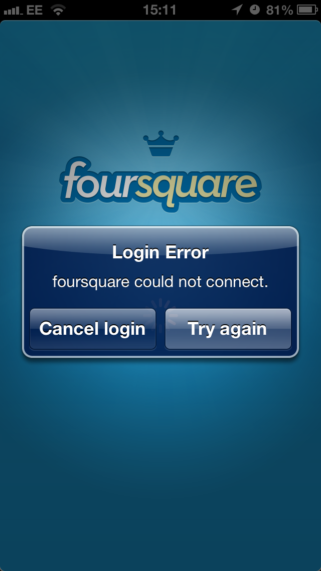 IMG 5147 Foursquare suffers widespread outage, leaving website and mobile apps inaccessible for hours