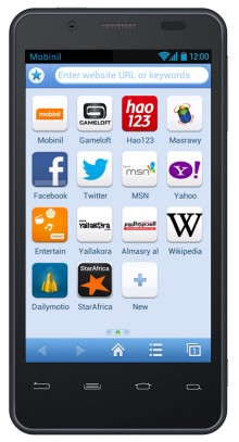 Orange Baidu Browser Mobinil preconfigured services screenshot 220x407 Orange brings Baidu's speedy Android browser to Africa, Middle East and Asia, starting with Egypt
