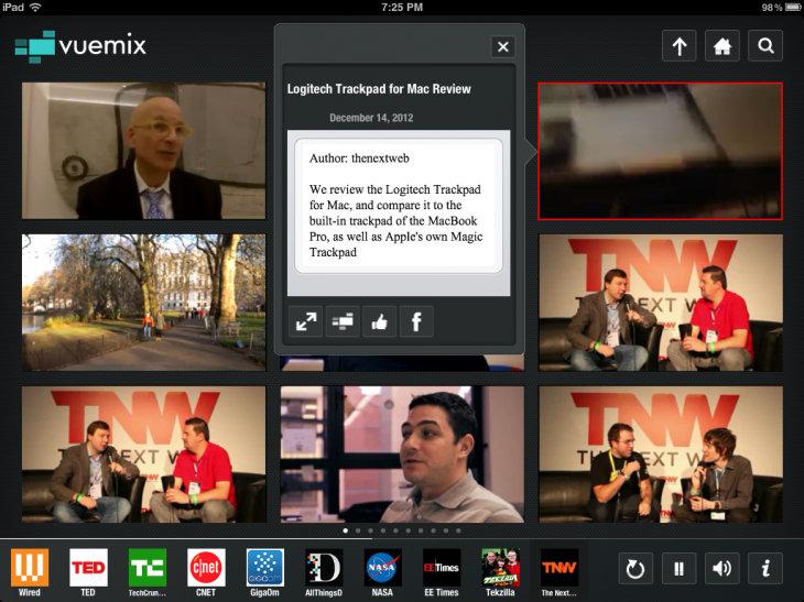 Photo Jan 21 7 25 27 PM 730x547 Vuemix releases streaming video iPad app with smart search and interactive 9 video interface