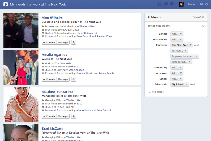 Snap 2013 01 15 at 12.36.13 730x489 Up close and hands on with Facebooks slick new Graph Search tool