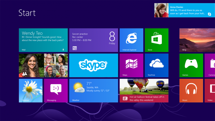 Windows 8 screen shot 730x410 A look at the design process behind Windows 8s Start screen and Lock screen wallpaper