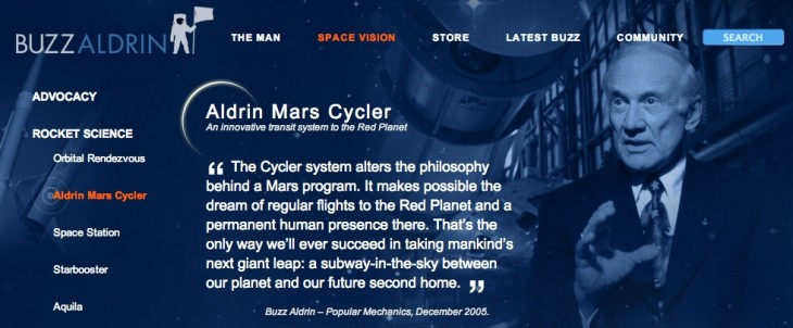 aldrin mars cycler on buzzaldrin.com