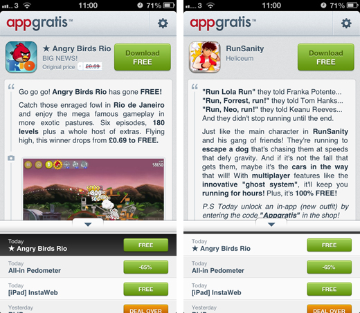 appgratisscreens Discovery service AppGratis raises $13.5 million to offer more free apps every day
