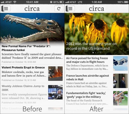 before after home 1024x908 520x461 Circa updates its iOS app with a refreshed design, share by email functionality and more