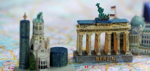 Models of Berlin's landmarks (L-R) the K