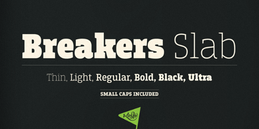 breakers slab 38 Of the most beautiful typeface designs released this winter