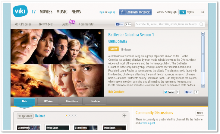 bsg 730x444 Global video site Viki nets deal to bring hundreds of hours of NBCUniversal TV to Southeast Asia