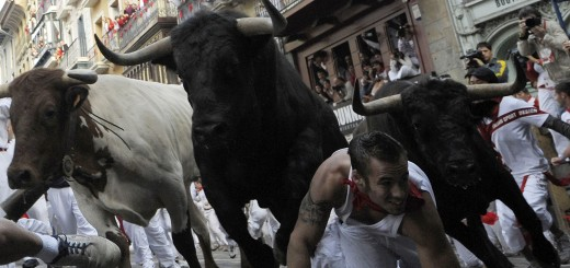 Running Of The Bulls During The Fiesta de San Fermin Denis Doyle Getty Images