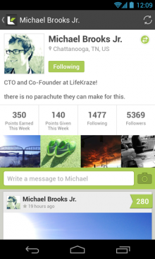 c6 220x366 LifeKraze launches its high fiving, accomplishment sharing social network on Android