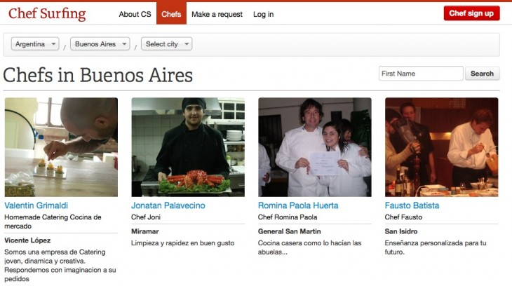 chef surfing chefs 730x408 With 1,000 registered cooks, Chef Surfing has its focus set on the Latin American market