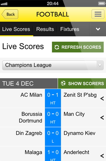 all live score today football