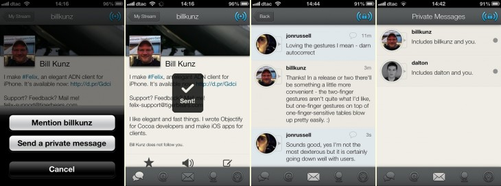 felix messages 730x271 Felix becomes first App.net mobile app to support private messaging, adds full screen mode too