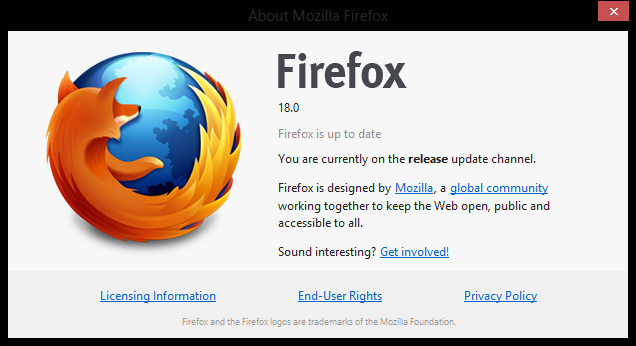 firefox 18 You can download Firefox 18 for Windows, Mac, and Linux right now; official launch this week