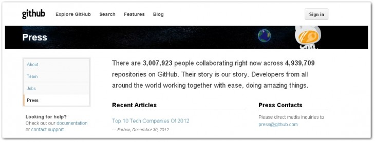 github3m 730x277 Github passes 3m registered users, adds 1.3m sign ups since raising $100m in July