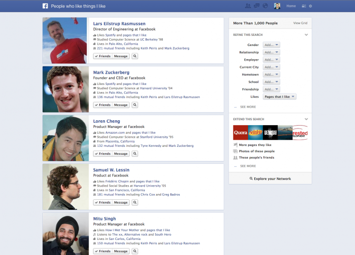 gs2 730x526 Facebook introduces Graph Search, a tool that lets people sift through its social graph