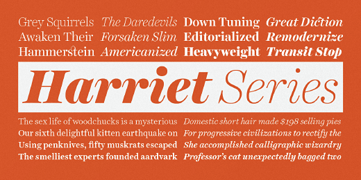 harriet 38 Of the most beautiful typeface designs released this winter
