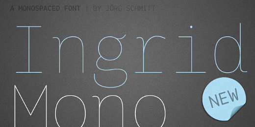 ingrid mono 38 Of the most beautiful typeface designs released this winter