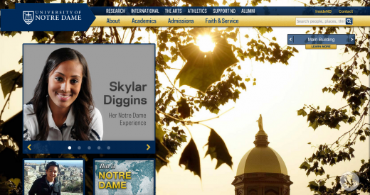 notredame 520x275 29 new inspiring responsive designs on the web