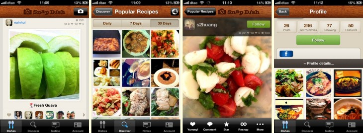 snapdish 730x268 Japans food photo app Snapdish aims international with 7 new languages and Kindle Fire support