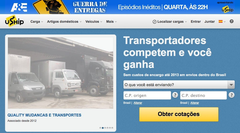 uship brazil e1358979990240 Online shipping marketplace uShip plans on leveraging Brazils logistics woes to bolster its business