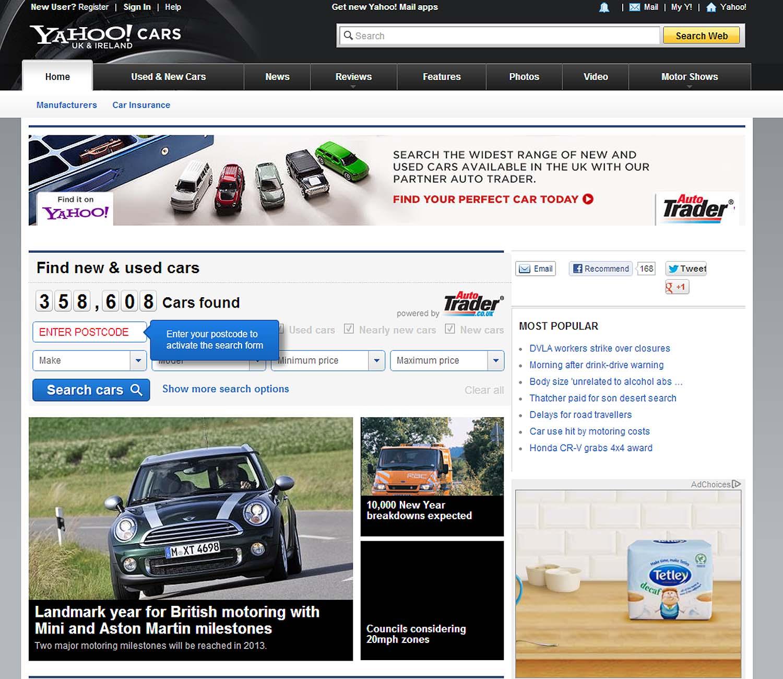 Auto Trader Announces Partnership With Yahoo Cars UK & Ireland