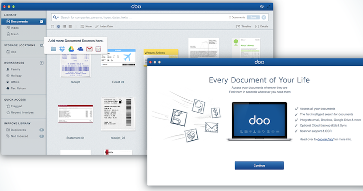 01 mac access all your documents Access all your documents, wherever they are: Doo debuts Mac OS X app after 2 years of R&D