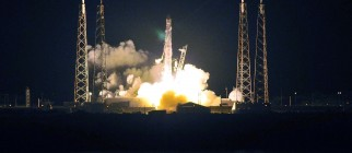 SpaceX's Falcon 9 rocket early May 22, 2