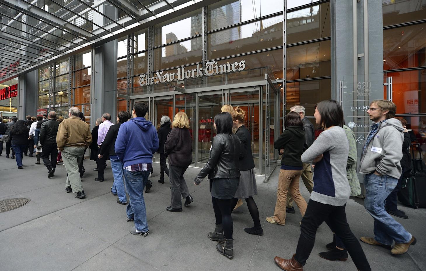 US-MEDIA-NYT WALKOUT