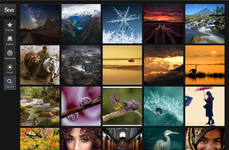 500px chrome 730x478 500px launches Chrome and Chrome OS app for PCs, Macs, and Chromebooks, including the touch enabled Pixel