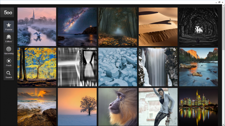 500px windows 730x410 500px launches Chrome and Chrome OS app for PCs, Macs, and Chromebooks, including the touch enabled Pixel