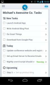 Asana Android - My Tasks