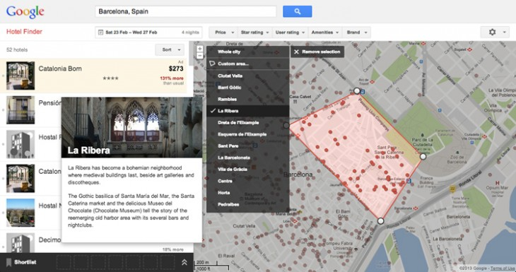 HotelFinder1 730x385 Googles Hotel Finder now offers neighborhood information to help you find the perfect room