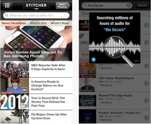 SR 520x428 Stitcher Radio rolls out redesigned Android app, and adds Topic Search to iOS
