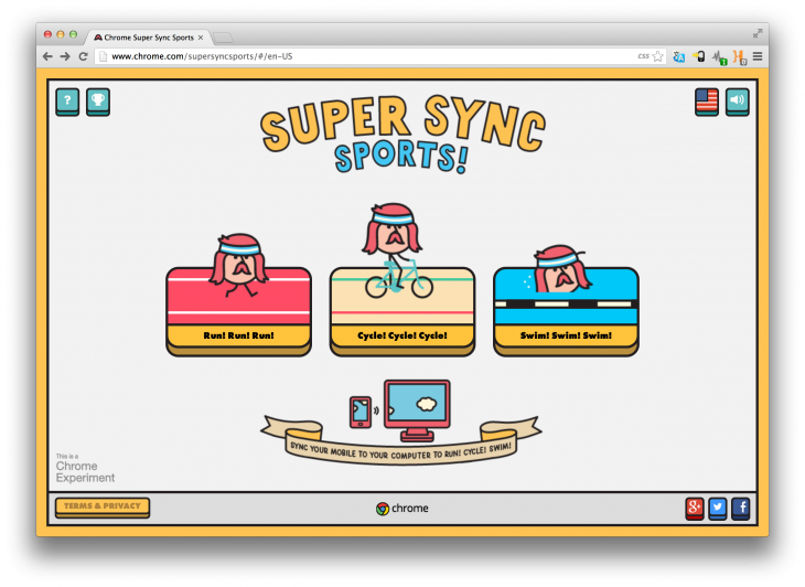Super Chrome Sync Sports, a Google Game Using Mobile Devices as Remote Control