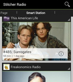 SmartStation1 Stitcher Radio rolls out redesigned Android app, and adds Topic Search to iOS